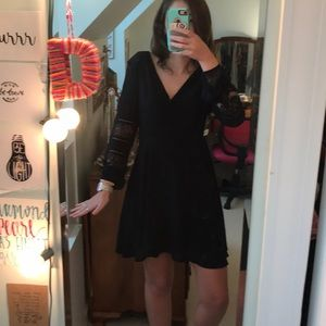 Dresses & Skirts - NEVER WORN Little Black Boho Dress with Lace